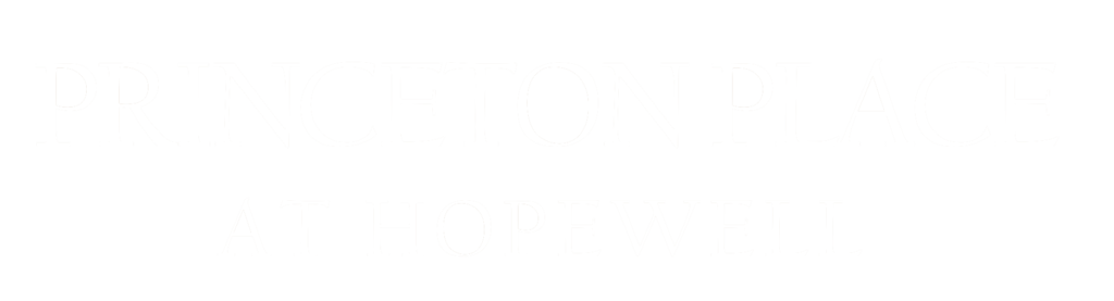 Logo of Princeton Place at Hopewell in white letters