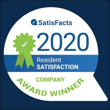 2020 Resident Satisfaction Company Award Winner