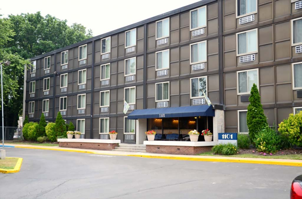Exterior view of separate units at Academia Suites apartments for rent