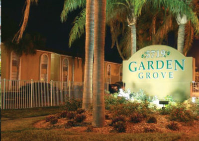 Entrance to Garden Grove apartments for rent in Philadelphia, PA