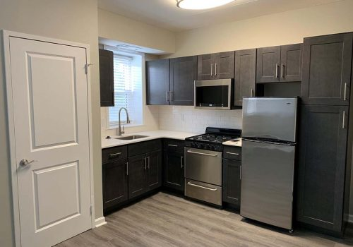 A kitchen at Crossings at Stanbridge apartments for rent in Lansdale, PA