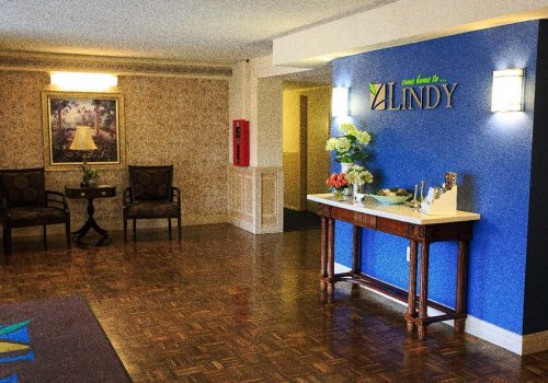 Lobby of Fountain Gardens apartments for rent in Philadelphia, PA