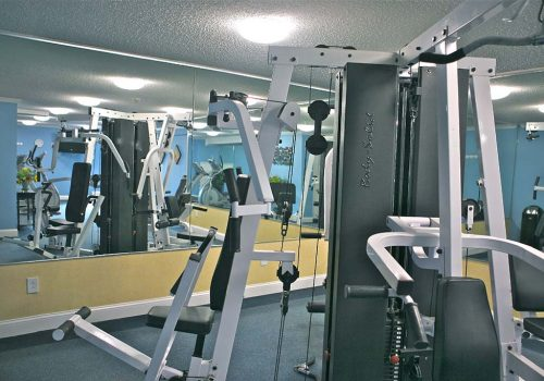 Fitness center with exercise equipment at Warrington Crossings apartments for rent in Warrington, PA