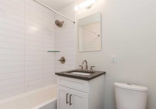 Updated bathroom at Sedgwick Terrace apartments for rent in West Mt. Airy, Philadelphia, PA